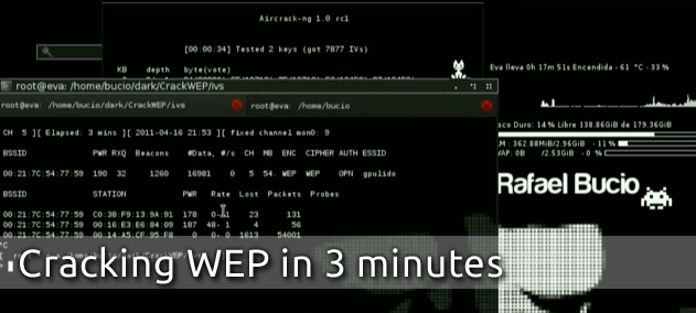 Cracking WEP in 3 minutes
